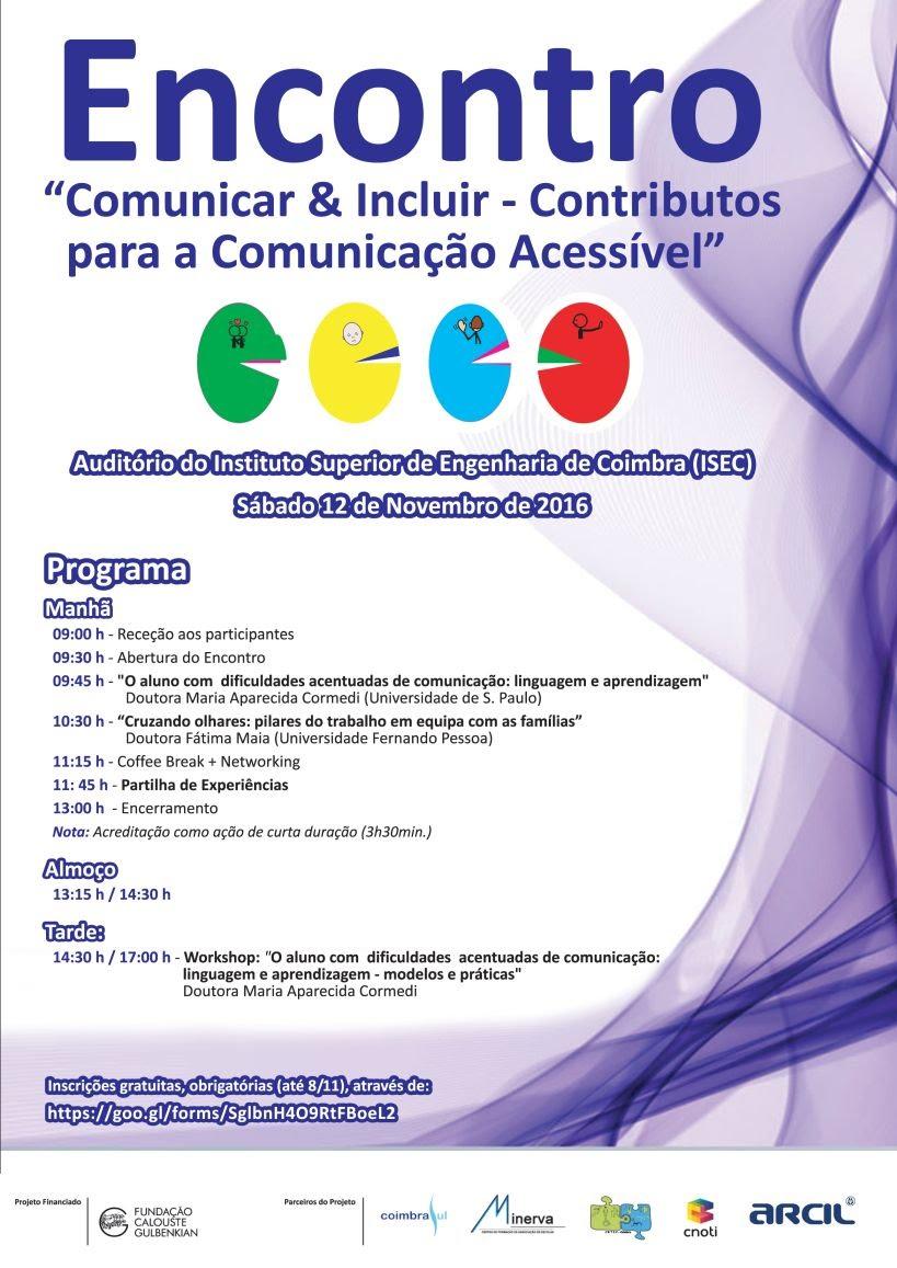 Cartaz do encontro comunicar e incluir